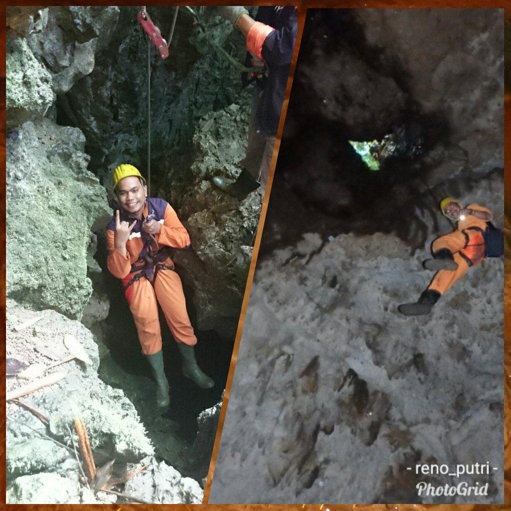 Caving di Goa Buniayu dengan seragam Naruto 2